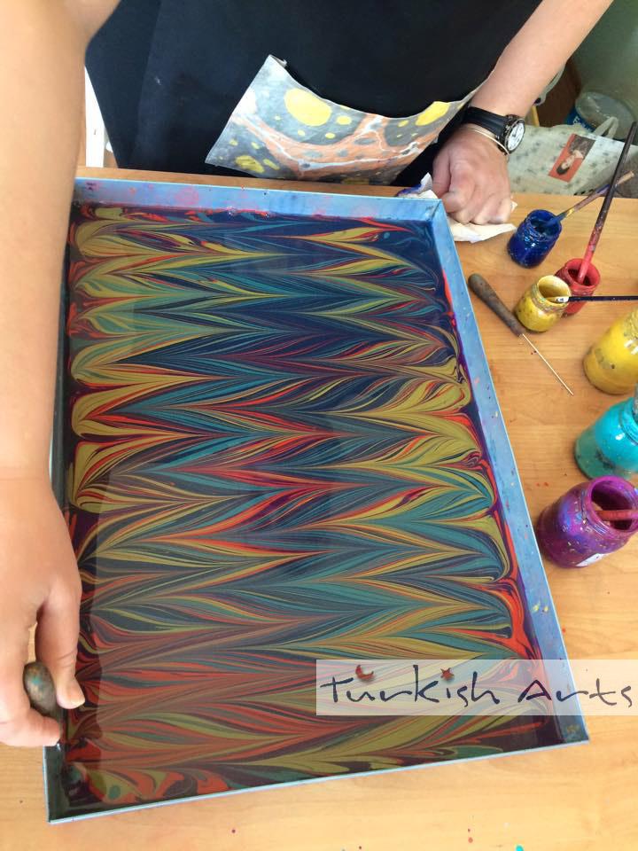 How To Make Ebru Turkish Arts By Betul